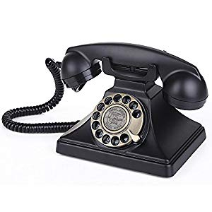 LNC Classic Style Rotary Dial Desk Telephone Set Home and